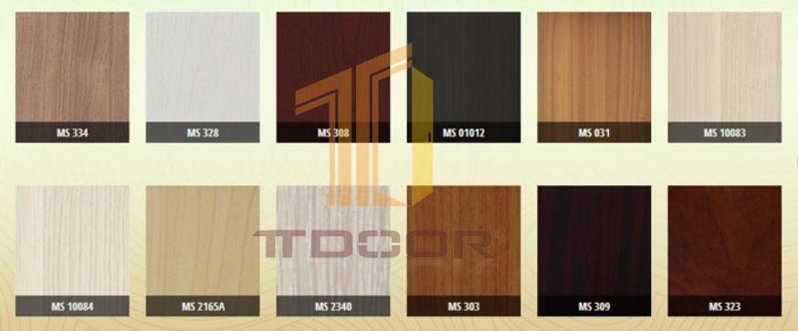 Màu sắc Cửa gỗ Melamine