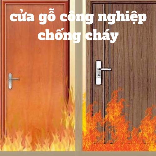 cửa gỗ công nghiệp chống cháy