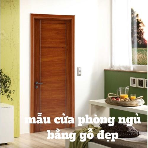 mẫu cửa phòng ngủ bằng gỗ đẹp