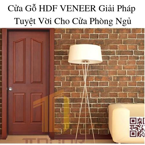 Cửa Gỗ HDF VENEER  Giải Pháp Tuyệt Vời Cho Cửa Phòng Ngủ