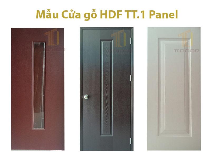 Mẫu Cữa gỗ HDF 1 Panel với nhiều màu sắc và cách điệu khác nhau