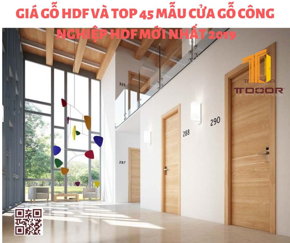 Giá Gỗ HDF Và TOP 45 Mẫu Cửa Gỗ Công Nghiệp HDF Mới Nhất 2019