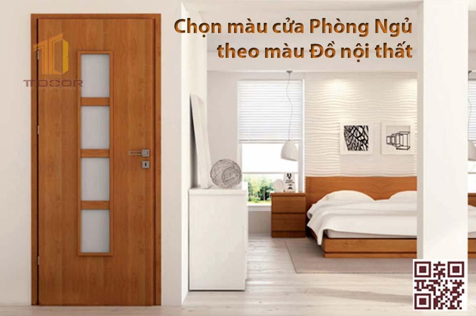 Màu cửa theo màu giường